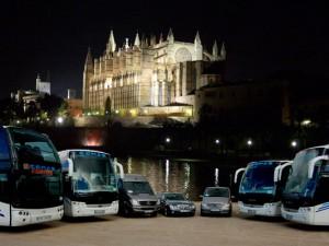 Hafen von Palma de Mallorca, Reisebusse Kathedrale