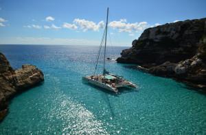 Mallorca, Ausflug im Katamaran