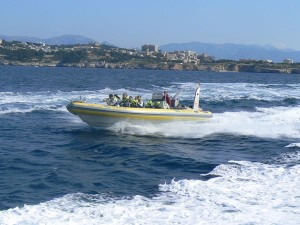 Im Speedboot durch die Bucht von Palma (2)