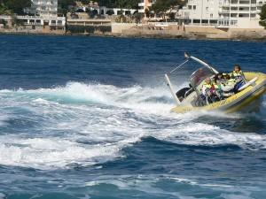 Im Speedboot durch die Bucht von Palma
